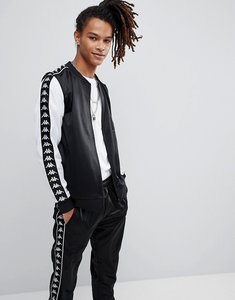 Read more about Kappa poly tricot banda track jacket in black - black