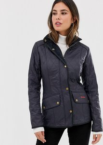 Read more about Barbour quilted jacket with cord collar - navy