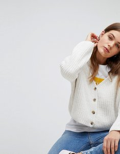 Read more about Esprit chenille knitted cardigan - cream