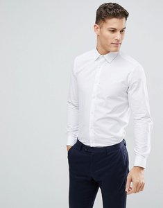 Read more about French connection plain poplin slim fit shirt - white