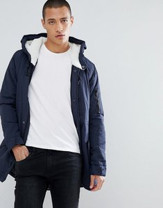 Read more about Brave soul hooded borg lined parka - navy