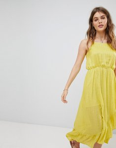 Read more about Sundress embellished cami frill maxi dress - precieuse yellow