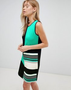 Read more about Qed london colourblock shift dress - green