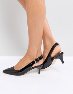 Read more about Faith kitten heel shoe in black - black