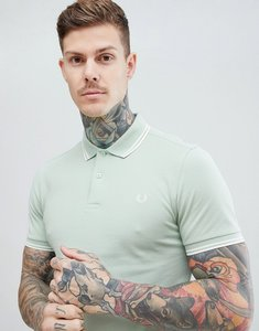 Read more about Fred perry riviera twin tipped polo shirt in light green - f82