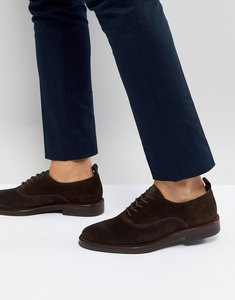 Read more about Zign suede derby shoes in brown - brown