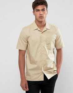 Read more about French connection revere collar bowling shirt - stone
