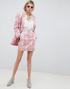 Read more about Asos design floral jacquard mini skirt - floral