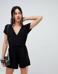 Read more about Stradivarius cross front playsuit - black