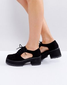Read more about Asos oake chunky cut out shoes - black