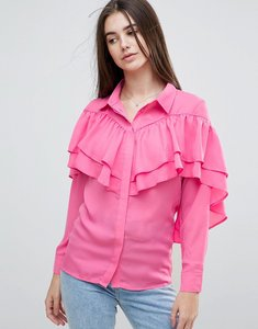 Read more about Glamorous ruffle detail blouse - pink