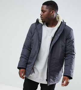 Read more about D-struct plus borg lined parka jacket - black