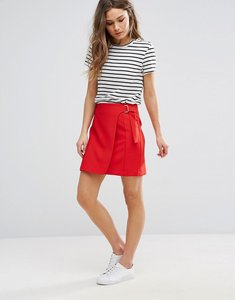 Read more about New look wrap d ring mini skirt - bright red
