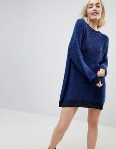Read more about Asos oversized jumper dress in twist yarn - navy