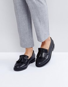 Read more about Asos maxwell leather loafers - black