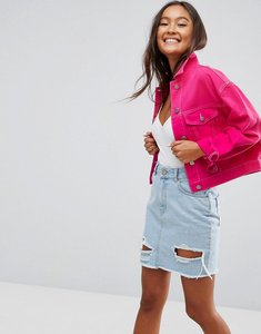 Read more about Asos denim jacket in hot pink - pink