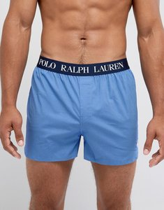 Read more about Polo ralph lauren woven boxers stretch slim fit in blue minidot - blue mini dot