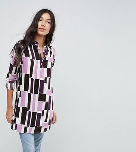 Read more about Noisy may tall long sleeve graphic print shirt dress