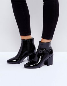 Read more about Raid rapple patent heeled ankle boots - black