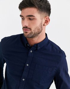 Read more about Burton menswear long sleeve oxford shirt in navy - navy