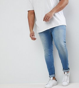 Read more about Asos plus extreme super skinny jeans in light wash - light wash blue