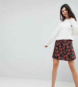 Read more about Asos tall skater skirt in cherry print - multi