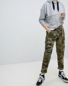 Read more about Bershka cargo pant in khaki - khaki
