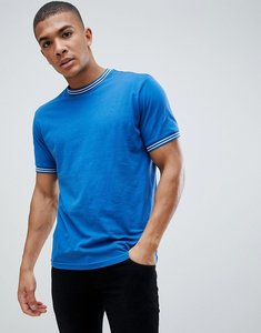 Read more about Brave soul double striped trim t-shirt - navy