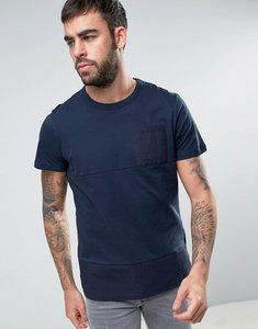 Read more about Dead vintage panel t-shirt with chest pocket - navy