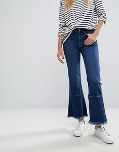 Read more about M i h jeans lou cropped jeans with extreme raw edge - blue