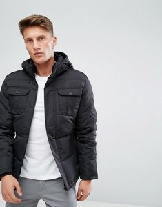 Read more about Jack jones quilted jacket with hood - black