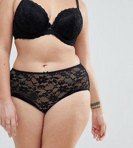 Read more about Yours all over lace brief - black
