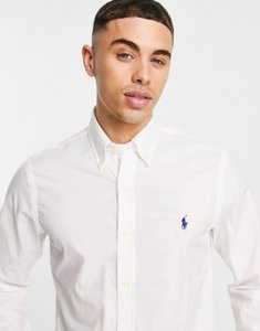 Read more about Polo ralph lauren poplin shirt slim fit white - white