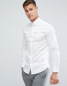 Read more about Selected homme shirt with concealed button down collar in slim fit - white