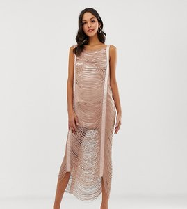 Read more about Asos design maxi dress in all over fringe