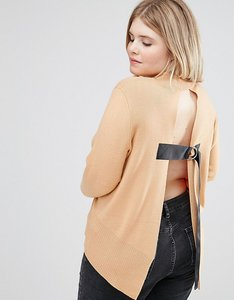 Read more about Asos curve jumper with open back - apricot