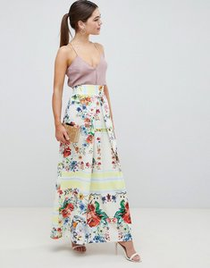 Read more about Asos design scuba prom skirt with mirrored flower print - multi