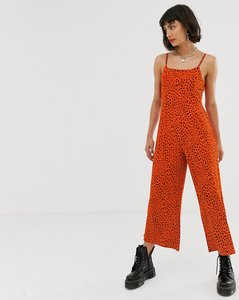 Read more about Noisy may spot print cami jumpsuit in red