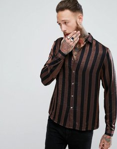 Read more about Asos regular fit sparkley shirt - brown