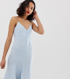 Read more about New look maxi dress with button detail in pale blue