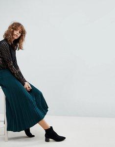 Read more about Stradivarius pleat midi skirt - green