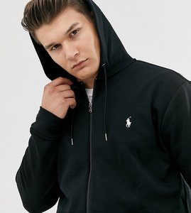 Read more about Polo ralph lauren big tall icon logo full zip hoodie in polo black