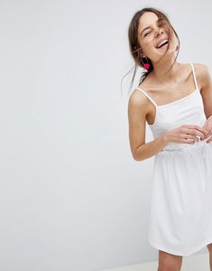 Read more about Asos design square neck smock sundress - white