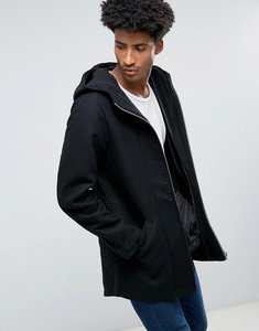 Read more about Bellfield bonded wool mix parka - black