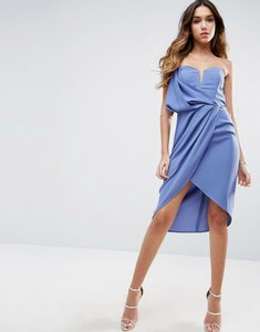 Read more about Asos asymmetric one shoulder dress - blue