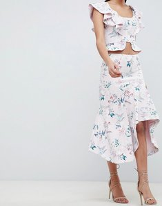 Read more about Forever new draped floral midi skirt - floral print