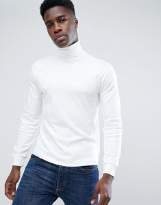 Read more about Polo ralph lauren long sleeve pima roll neck t-shirt with polo player in white - white