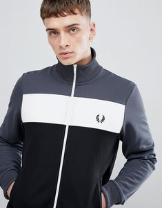 Read more about Fred perry sports authentic colour block track jacket in charcoal - 834
