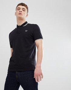 Read more about Fred perry twin tipped polo shirt in black - f78
