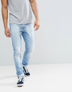 Read more about Tommy jeans steve slim tapered jeans in light wash - berry light blue